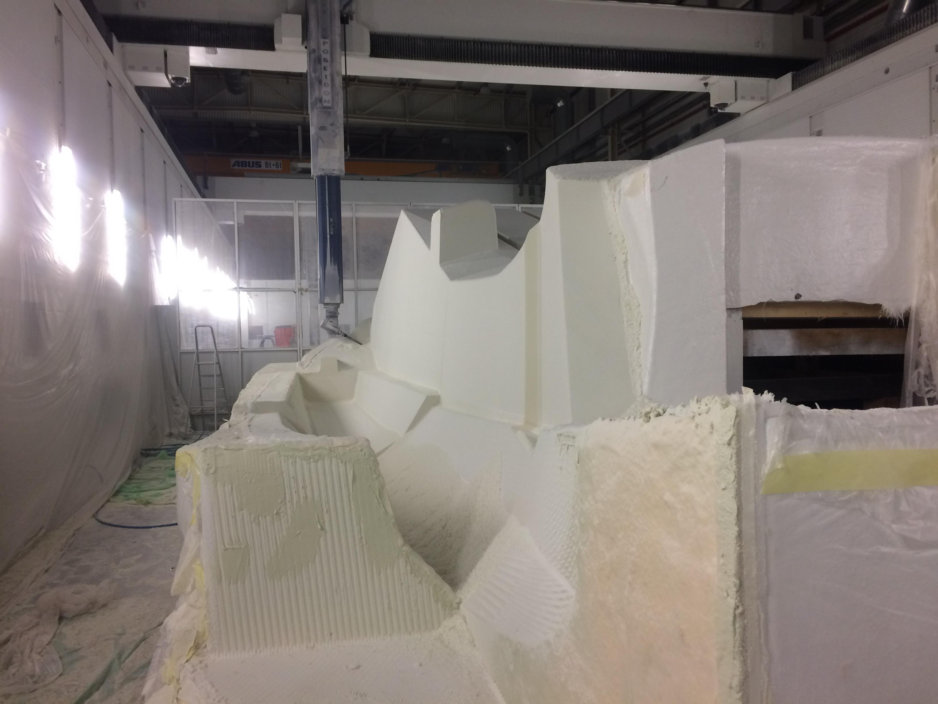 Usinage de Bloc polystyrène
